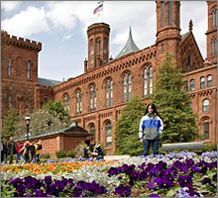 The Smithsonian in Washington, DC -- I love the Smithsonian!  I've been to Washington many times in my life (the first time I think I was probably 8 or 9) .... and I've been to the Smithsonian each and every time.  I'd go again tomorrow!   There are many buildings that make up the Smithsonian, but the Smithsonian Castle is my favorite.