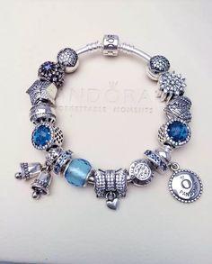 Charm bracelet blue hot sale sku cb02017 pandora bracelet ideas