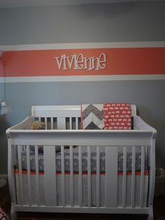 Coral & Grey Nursery, just like I chose for Kyndall! Girl Nursery, Girls Bedroom, Nursery Crib, Nursery Inspiration, Nursery Ideas, Nursery Decor, Big Girl Rooms, Project Nursery, Room Paint
