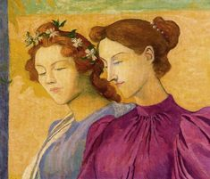 Two Girls 1890 - Aristide Maillol - (French: 1861 - Maurice Denis, French Sculptor, World Famous Artists, France Art, Impressionist Artists, Painting People, Post Impressionism, Paul Gauguin, Henri Matisse