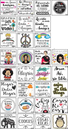 frases en español e ingles. Vasos Vintage, Easy Craft Projects, Best Friends Forever, Word Art, Planner Stickers, Planer, Christmas Diy, Stencils, Diy And Crafts