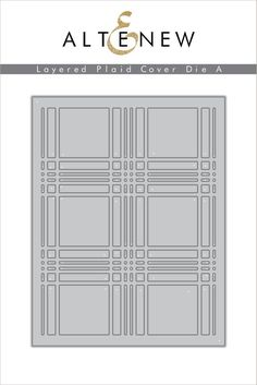 This detailed plaid die is sized to cover the front of a standard A2 card. It can be used alone, or layered with our Layered Plaid Cover Die B for an amazingly unique and intricate result. Coordinatin