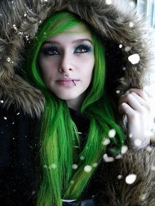 I wanted to have a shimmery blue ice look for this photo shoot I was doing. It definitely gave that winter frost look!