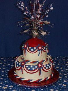 Patriotic Cake but w/o the dodads