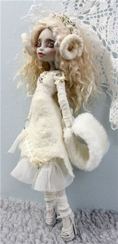 LOVELY DOLL DONE ALL IN WHITE! Radical Photo: Picture
