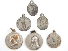 Vintage and Antique Catholic Medal Lot Virgin Mary, Lady fo Lourdes, Infant Jesus of Prague - Religious Charms by LuxMeaChristus