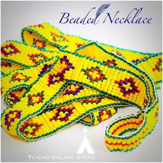 #Beaded #Tlicho necklace by George Chocolate now available on http://onlinestore.tlicho.ca