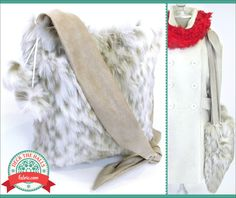 Faux Fur Sling Bag with Poms: Deck The Halls with Fabric.com | Sew4Home