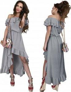 8155d4e6979459 Różowa sukienka Pakuten maxi w młodzieżowym stylu z krótkim rękawem ...