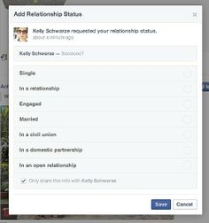Would you ask your Facebook friends about their love lives?
