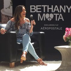 Bethany Mota taking questions with Teen Vogue on her new collection out NOW!