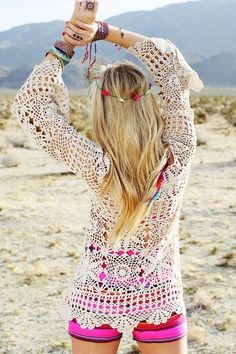 long hair hippie wear