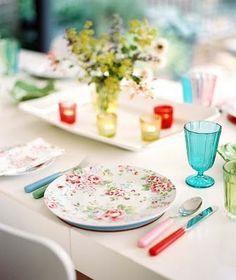 Pretty flower plates