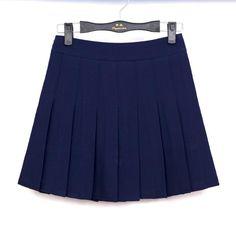 c86719dd2f1 NEW New Spring high waist ball pleated skirts Harajuku Denim Skirts solid  a-line sailor skirt Plus Size Japanese school uniform Black