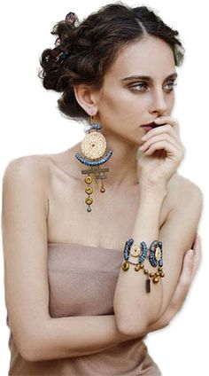 Those glamorous polymer earrings are the best thing to happen in a long time. I would wear those with everything!
