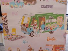 Vintage Barbie Ken and Skipper Wallpapper Singing in Hippy Clothes and Van | eBay
