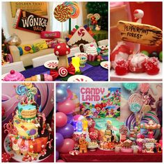 Willy Wonka's Candyland Wonderland Themed Party with So Many Cute Ideas via Kara's Party Ideas KarasPartyIdeas.com #WillyWonkaParty #CharlieAndTheChocolateFactory #CandyLand #Wonderland
