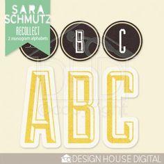 This weekend only! Recollect alpha freebie from Sara Schmutz #scrapbook #digiscrap #scrapbooking #digifree #scrap