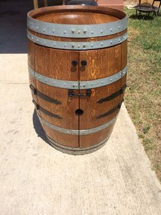 Wine barrel whisky cabinet!