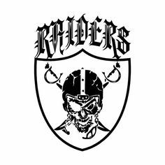 Nfl Oakland Raiders Stencil Free Usa S Amp H Wants