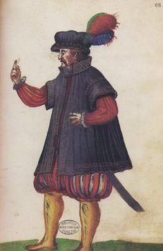 Il Libro del Sarto Sleeved cloak. Misspellings I've used: Cappotto, caputo, caputto