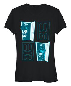 Love this Black Monsters Inc. Tee - Juniors on #zulily! #zulilyfinds