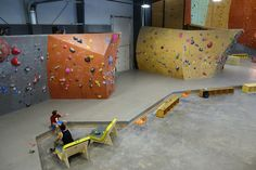 Cirque Climbing Gym, Lacey, WA by Elevate Climbing Walls Climbing Wall, Rock Climbing, Toddler Bed, Walls, Gym, Building, Design, Space, Child Bed