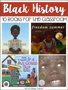 10 Books for Black History Month. Perfect way to integrate reading and social studies during February!