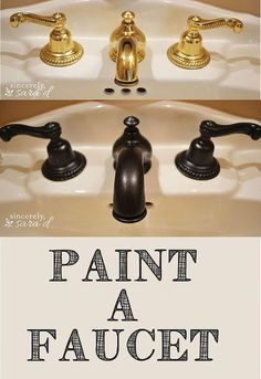 Painting a faucet can give it a great new modern look!