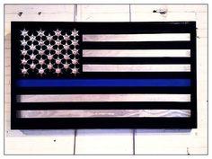 Thin Blue Line Flag Artwork, Lindsay Wanner, St. Louis Artist