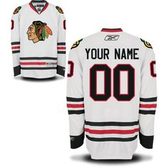Reebok Chicago Blackhawks Men s Premier Away Custom Jersey - White  Blackhawks Players 1a50ed494