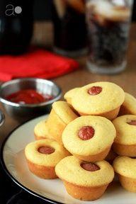 Mini Corn Dog Muffins- perfect for Super Bowl Sunday!