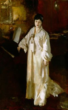 Judith Gautier / by John Singer Sargent / oil on panel / c. 1885