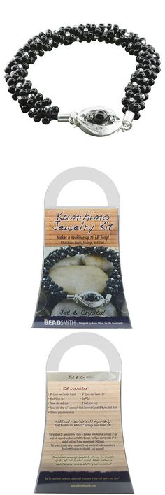 Other Jewelry Making Kits 162102: Beadsmith Kumihimo Bracelet Jewelry Kit, Do It Yourself, Jet And Crystal -> BUY IT NOW ONLY: $31.49 on eBay!