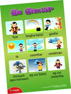 Classroom Signs : Outdoor Learning Signs: An Aimsir Irish Language, Classroom Signs, Outdoor Learning, Online Apps, Seesaw, Teaching, Education, Motivation, Words