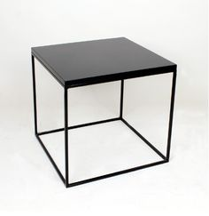 Birgit Israel Custom Size Lacquered Cube Side Table