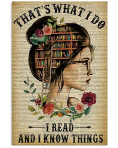 Thats What I Do Reading Unframed , Wrapped Canvas Wall Decor - Frame Not Include Poster Canvas Wall Decor, Frame Wall Decor, Wall Art Decor, Reading Posters, Book Posters, Reading Books, Poster Wall, Poster Prints, Art Prints