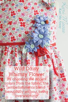 Learn to make these beautiful wild daisy whimsy flowers & get other tips like this from Kari Mecca's book, Whimsy Flowers & Trims! Kari Me Away