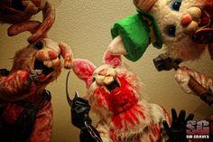 The Evil Bunny Death Squad Zombie Bunny, Evil Bunny, Portrait Wall, Easter Bunny, Holiday Fun, Creepy, Horror, Concept