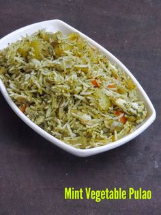 Mint Vegetable Pulao