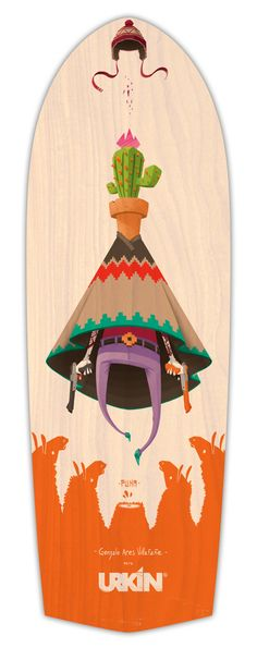 PUNA / Urkin Skateboards by Gonzalo Ares Villafañe, via Behance