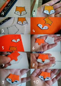 Tuto renard en feutrine DIY / fox                                                                                                                                                     Plus