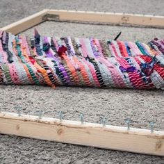 Making a rag rug with a diy loom (large picture frame im thinking)