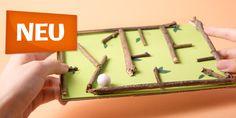 Du brauchst:Karton Moosgummi Zweige Papier Schere Leim Papierkugel oder Murmel MITTEL