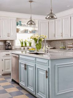 1000 images about kitchens on pinterest duck egg blue for Kitchens with islands in the middle