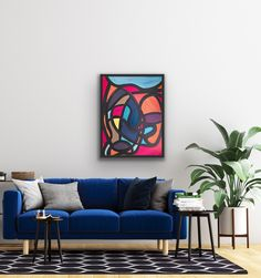Abstract Painting Original colorful Modern Wall Art, 16x22 Vibrant graphic artwork for wall art decor, Black and Blue Acrylic, ink Painting Abstract Format, Dragonfly Decor, Graphic Artwork, Colorful Artwork, Wooden Wall Art, Bedroom Art, Ink Painting, Pretty Art, Modern Wall