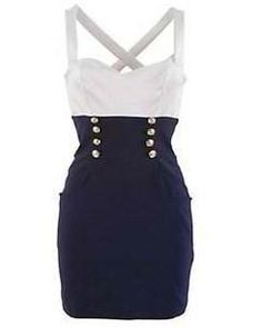 #Sailor style dress Collection dress #2dayslook # Collectionfashiondress www.2dayslook.com