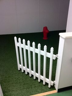 White Wooden Indoor Outdoor Picket Fence 3 Section Folding