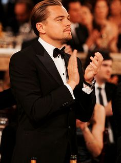Good Lord, Leonardo and a tuxedo. I'm quite happy at the moment.