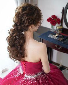 Bridal party makeup bridesmaids Ideas Brautparty Make-up Brautjungfern Ideen Best Bob Haircuts, Mother Of The Bride Hair, Party Make-up, Bride Hairstyles, Casual Hairstyles, Short Hairstyles, Cool Blonde Hair, Bridal Hairdo, Hair Arrange